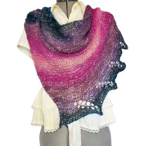 Hand Knit One Of A Kind Shawlette